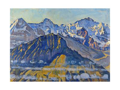 Eiger, Moench and Jungfrau in the Sun Gicléetryck av Ferdinand Hodler