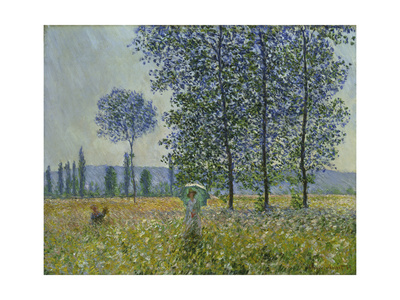 Fields in Spring, 1887 Giclee Print by Claude Monet