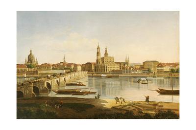 A View of Dresden Giclee Print by Karl Gottfried Traugott Faber