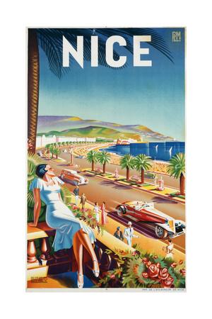 Nice, Ca, 1930 Giclée-tryk af  Eff d'Hey