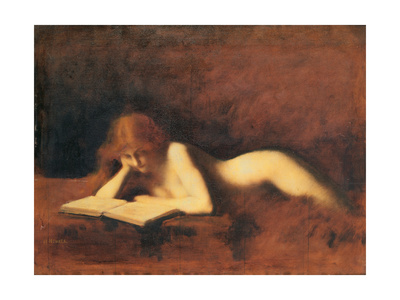 Woman Reading, C. 1880-1890 Giclee Print by Jean-Jacques Henner
