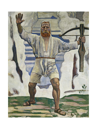 William Tell, 1897 Gicléetryck av Ferdinand Hodler