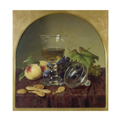 Still Life with Lidded Goblet, Fruit and Biscuit, 1836 Giclee Print by Johann Wilhelm Preyer