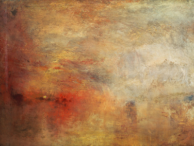 Sundown over a Lake, 1840 Giclée-tryk af Joseph Mallord William Turner