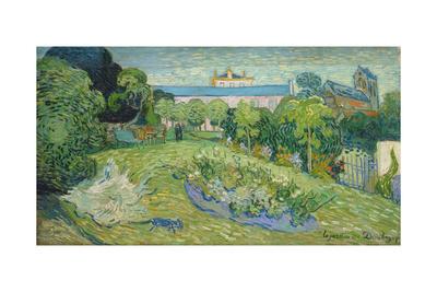 The Garden of Daubigny, 1890 Giclée-tryk af Vincent van Gogh