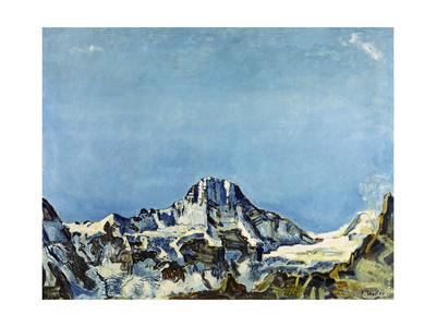 Das Breithorn Gicléetryck av Ferdinand Hodler