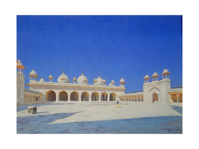 The Pearl (Mothi-Maschdschid) Mosque in Agra, 1869 Giclee Print by Wassili Werestschagin