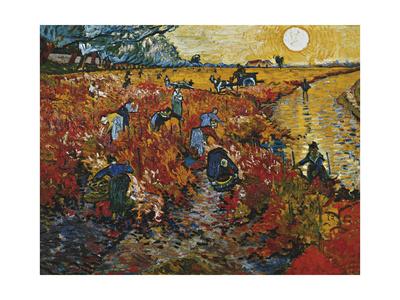 The Red Vineyard in Arles, 1888 Giclee Print by Vincent van Gogh