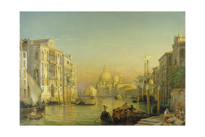 Grand Canal in Venice Giclee Print by Friedrich Nerly