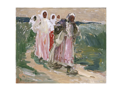 Harvest Women in Russia, 1928 Giclee Print by Robert Sterl