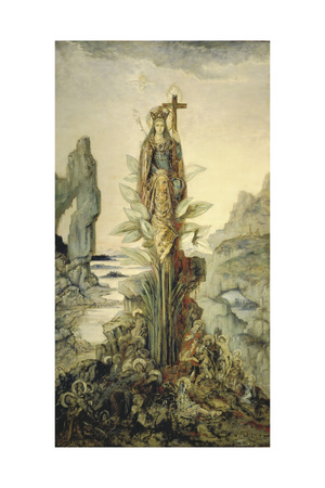 The Mystic Flower Giclee Print by Gustave Moreau