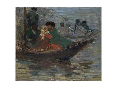 Kalmyk-Boat on the Volga River, 1920 Giclee Print by Robert Sterl