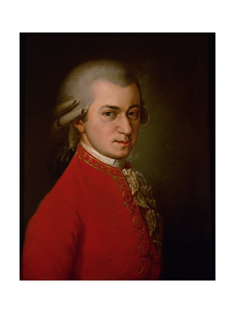 Wolfgang Amadeus Mozart, Posthumes Portrait, 1819 Giclee Print