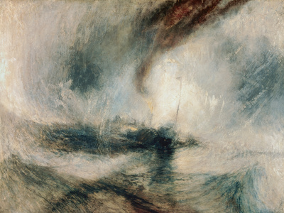 Snowstorm at Sea, 1842 Giclée-tryk af Joseph Mallord William Turner