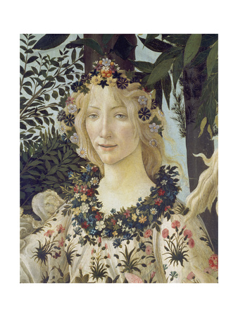 """Detail from the Painting """"Primavera"""": Head of Flora Giclee Print by Sandro Botticelli"""