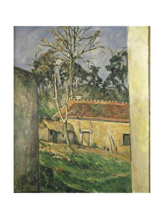Farmyard at Auvers, 1879-80 Lámina giclée por Paul Cézanne