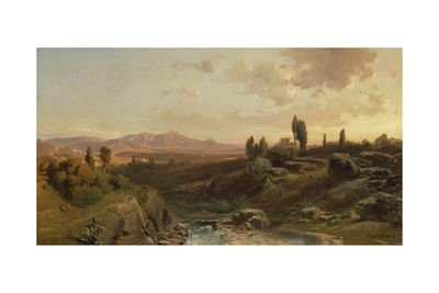 Mountain Scenery in Spain, 1870 Giclee Print by Fritz Bamberger
