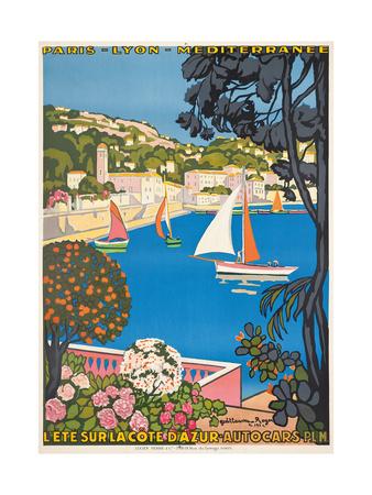 Summer on the Cote D'Azur (L'Été Sur La Cote D'Azur), 1926 Giclee Print by Guillaume G. Roger