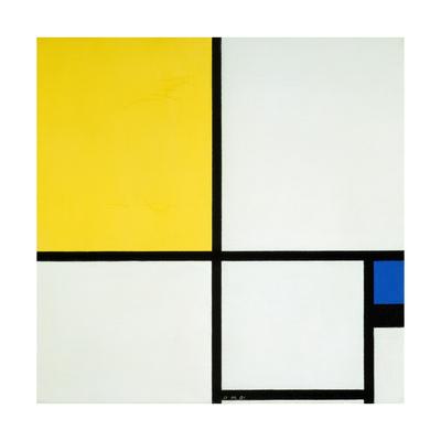 Komposition Mit Blau Und Gelb, 1931 Giclee Print by Piet Mondrian