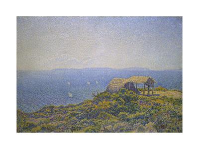 L'Ile Du Levant, Vu Du Cap Benat Giclee Print by Theo van Rysselberghe