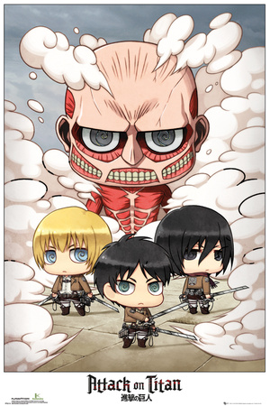 Attack on Titan - Chibi Group Poster