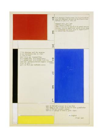 Textuel, 1928 Giclee Print by Piet Mondrian