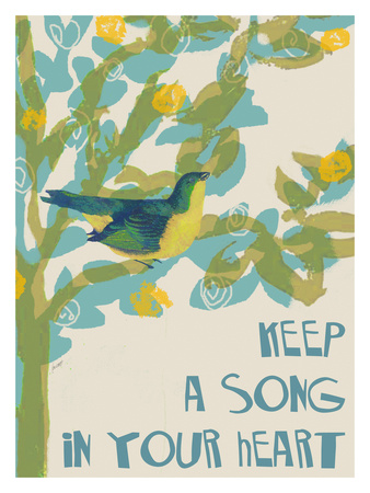 Keep A Song In Your Heart Giclee Print by Lisa Weedn