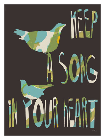 Keep A Song Giclee Print by Lisa Weedn