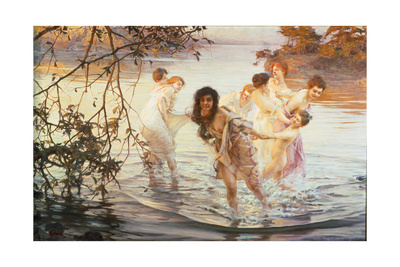 Happy Games, 1899 Giclee Print by Paul de Vos