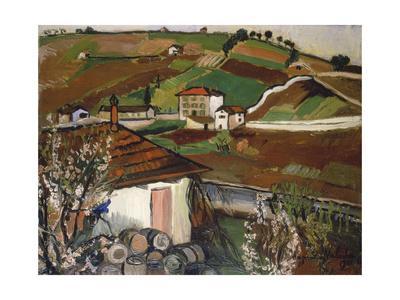 Houses in the Countryside, 1921 Lámina giclée por Suzanne Valadon