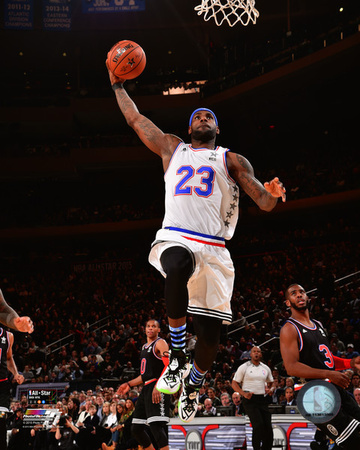LeBron James 2015 NBA All-Star Game Action Photo