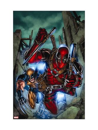 Weapon X: First Class No. 2: Wolverine, Deadpool Metal Print