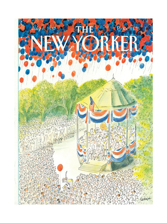 The New Yorker Cover - July 6, 1987 Giclee Print by Jean-Jacques Sempé
