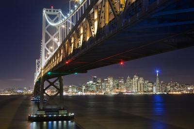 Under The Bay Bridge Treaure Island - View Of San Francisco at Night From Treasure Island Wall Decal by Henri Silberman