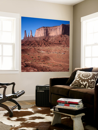 Monument Valley, Arizona Horseback Riders - Iconic Western Landscape Wall Mural by Henri Silberman