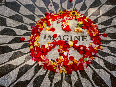 """Imagine"" Memorial Central Park Wall Decal by Henri Silberman"
