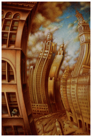 Les ondes seismiques Print by Alain Cardinal
