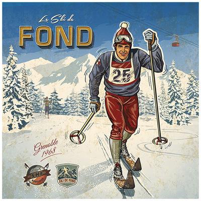 Ski fond Print by Bruno Pozzo