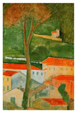 Landscape Poster di Amedeo Modigliani