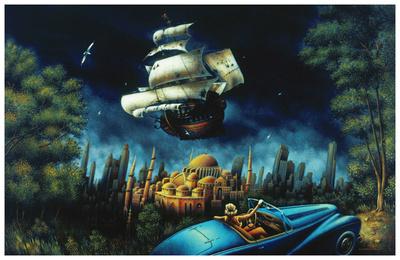 L'illusion du Mirage Poster by Alain Cardinal