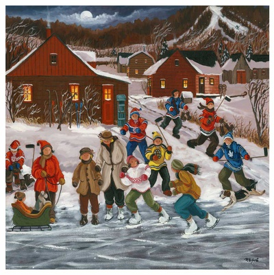 Sur le lac gelé Poster af Nicole Laporte