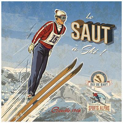 Ski saut Prints by Bruno Pozzo