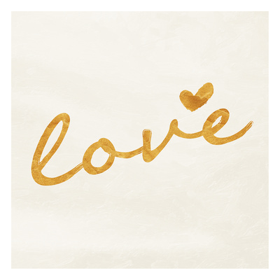Gold white love Poster by  OnRei
