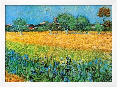 View of Arles with Irises Prints by Vincent van Gogh