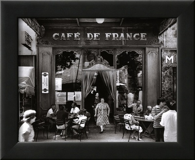 Café de France Art by Willy Ronis