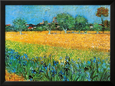View of Arles with Irises Print by Vincent van Gogh