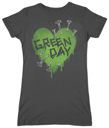 Juniors: Green Day - Nail Heart Bluse