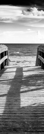 Boardwalk on the Beach at Sunset Photographic Print by Philippe Hugonnard
