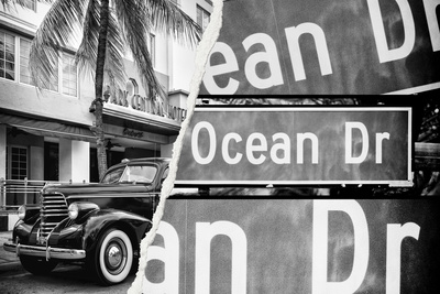 Dual Torn Posters Series - Miami Photographic Print by Philippe Hugonnard