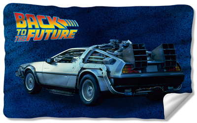 DeLorean fleece blanket Back to the Future Day celebration